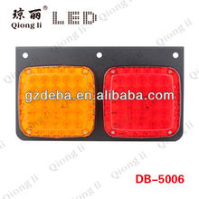 Led indicator light 12v truck rear led lamp two lens red/amber rear lamp with stop tail