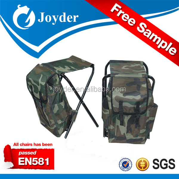 portable round folding adjustable height garden fishing stool with pack