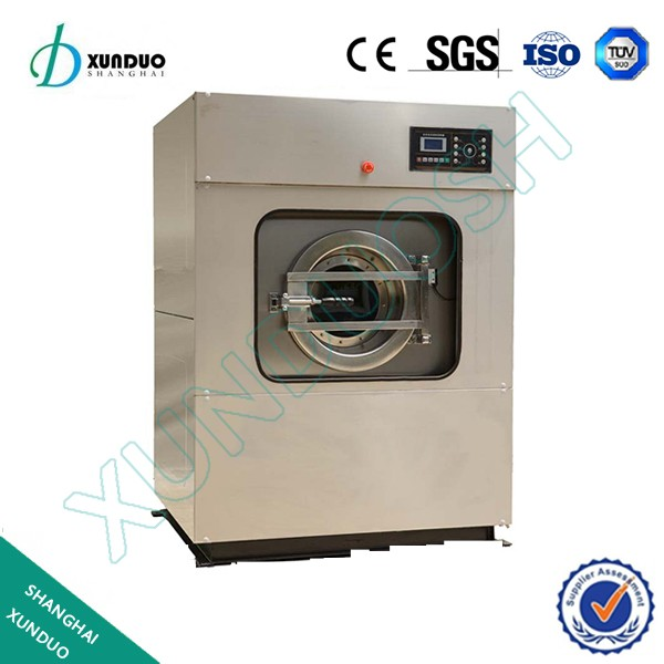 Front loading industrial washing machine