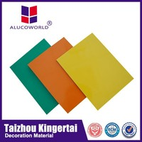 Alucoworld decorative plastic wall covering sheets aluminium composite panel