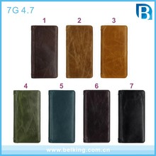"For iPhone 4.7"" Real Leather Phone Case Luxury Magnetic Genuine Leather Flip Cover Case For iPhone 7"