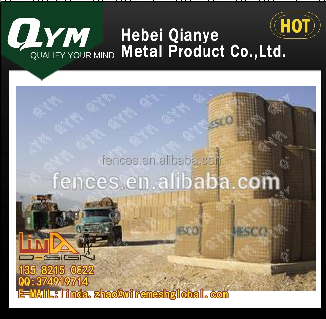 Security Low price Hot dipped Hesco Barrier/Hesco bastion/gabion mesh box