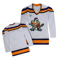 Embroidered logo Tackle Twill name and number high quality wite anaheim ducks ice hockey jersey for game