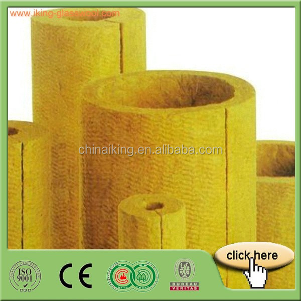 Low Duct Rockwool Pipe Insulation , Mineral Wool Thermal Insulation Pipe