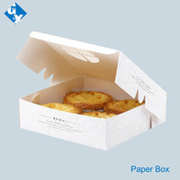 Egg tarts packaging white paper box