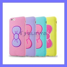 Soft Silicone Hard Elastic Plastic Fold Curved Holder Butterfly Case for iPhone