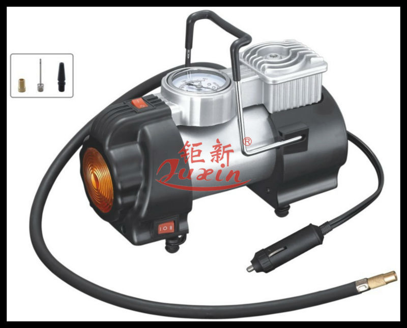 Heavy duty 12V Tyre Inflator with LAMP Tire Air Compressor