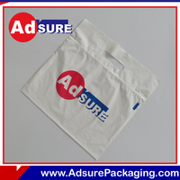 Custom Logo plastic ziplock bag with handle side zipper clear cosmetic bags with high quality