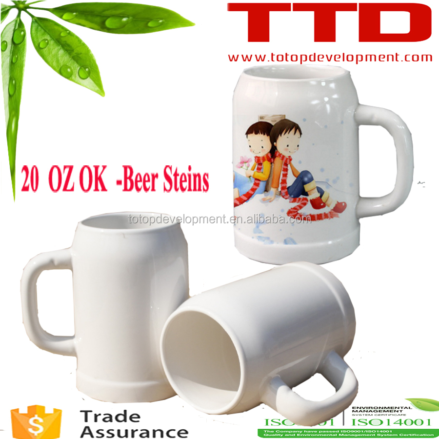 Glass beer mug,cheap beer steins , Oktoberfest ceramic beer stein mug