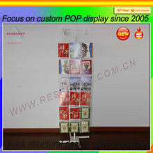 customized metal rotating greeting card rack display card display spinner