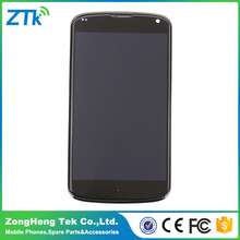 Fast shipping AAA quality lcd digitizer for LG Google Nexus 4 E960 with black color