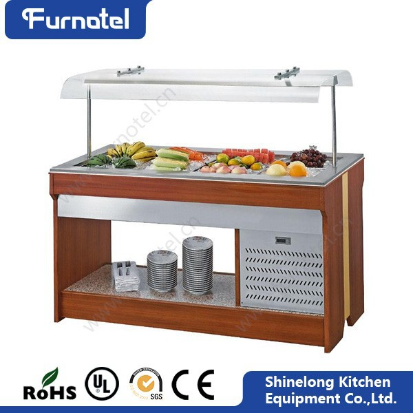 Hot Selling Europe Design Commercial Double Sides Salad Refrigerator