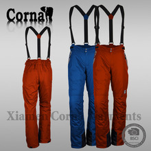 Fashionable winter comfortable stretch ski pants for men