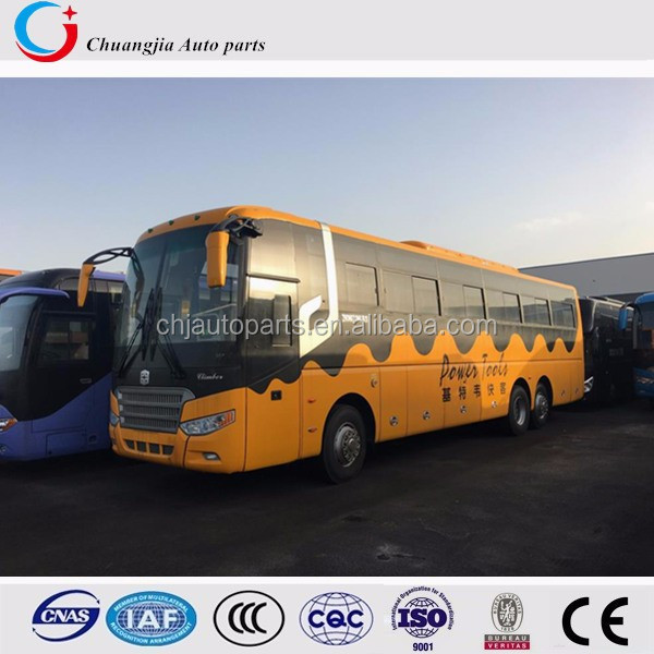 European Emission Manual Transmission Double Rear Axles Zhongtong Bus Price
