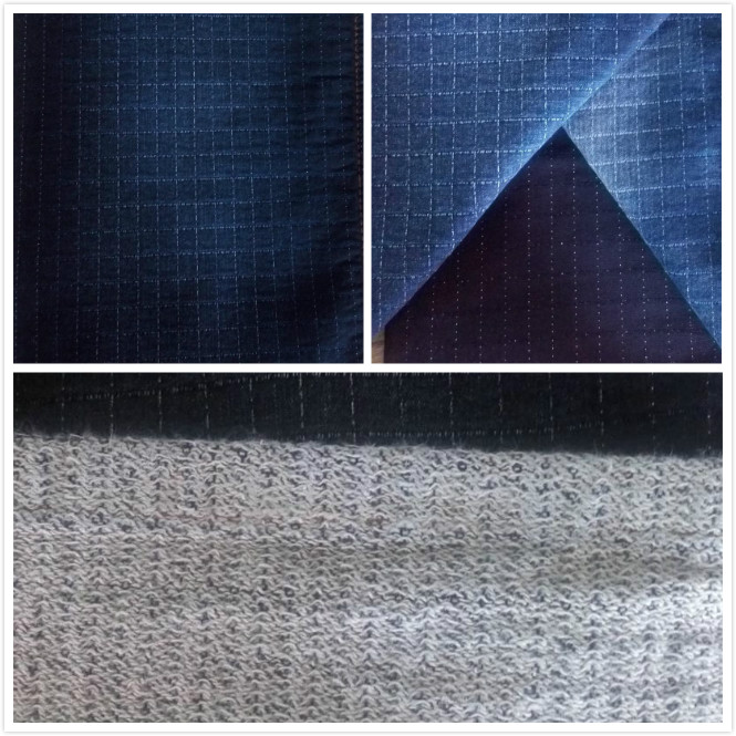 Woven stretch jacquard denim fabric for garment