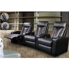 Cheap Home Movie Reclining Black Sofa Theater Seats