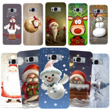 Funny Christmas Xmas Santa Claus Snowman Hard Phone Case For Samsung S7 edge S8 S8 Plus