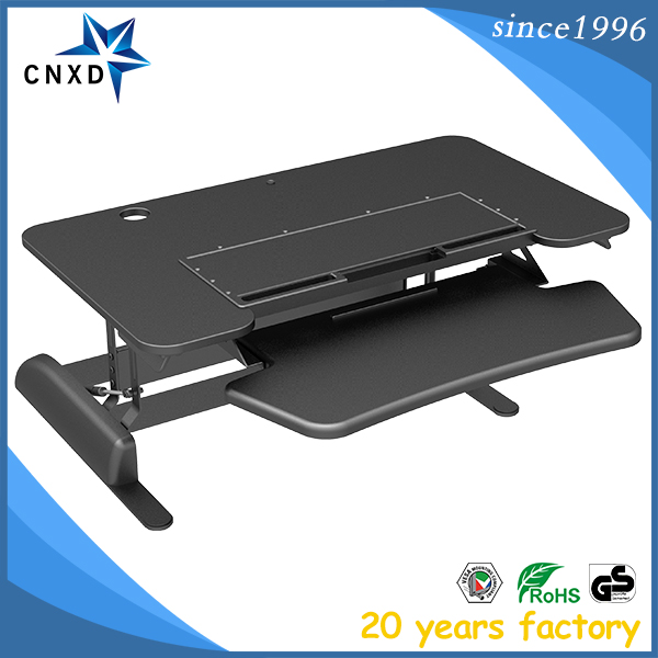 "Adjustable Standing Desk - 36"" width Stand Up Desk Riser with Retractable Keyboard Tray"