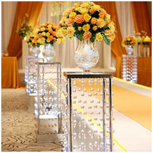 Acrylic pendent decoration columns/wedding stage and path decoration