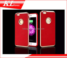 2015 New design Luxury 3 in 1 metal brushed cover for iphone 6s case