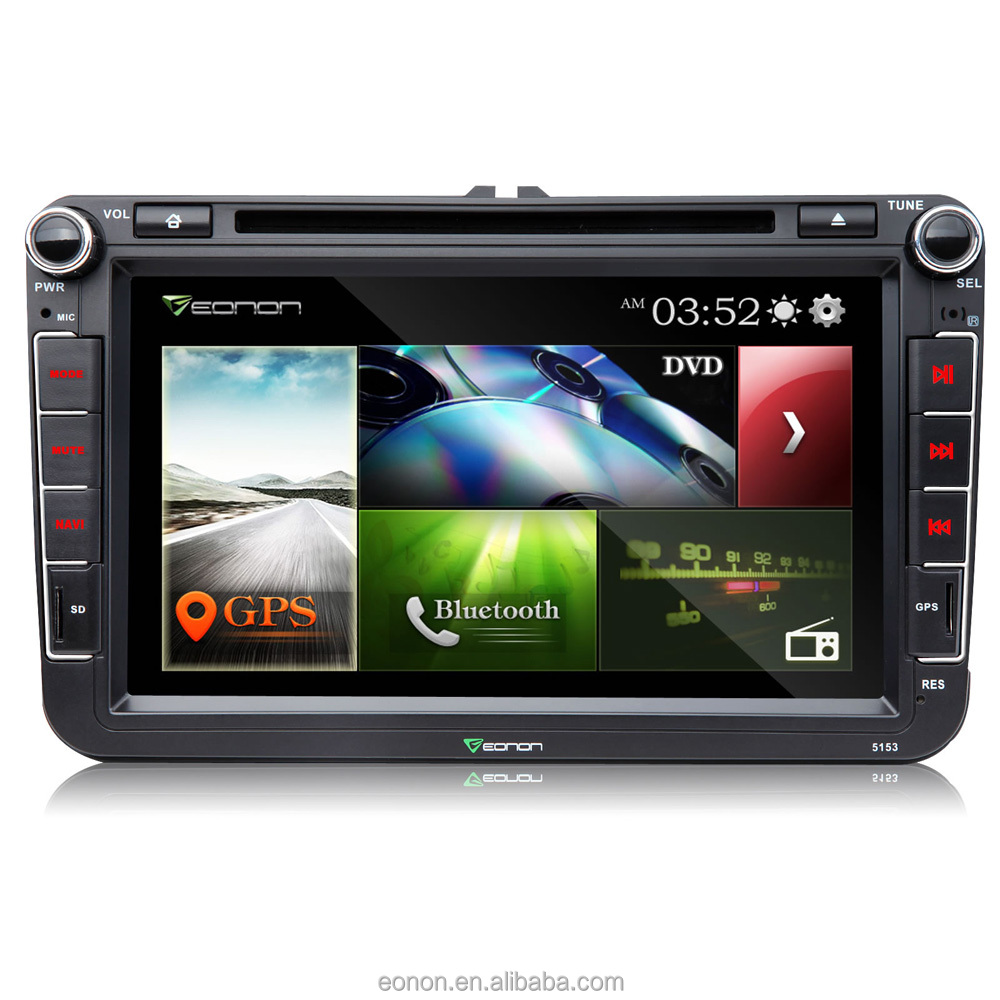 "EONON D5153Z 8"" Digital Touch Screen Car DVD Player with Built-in GPS For Volkswagen/SKODA/SEAT"