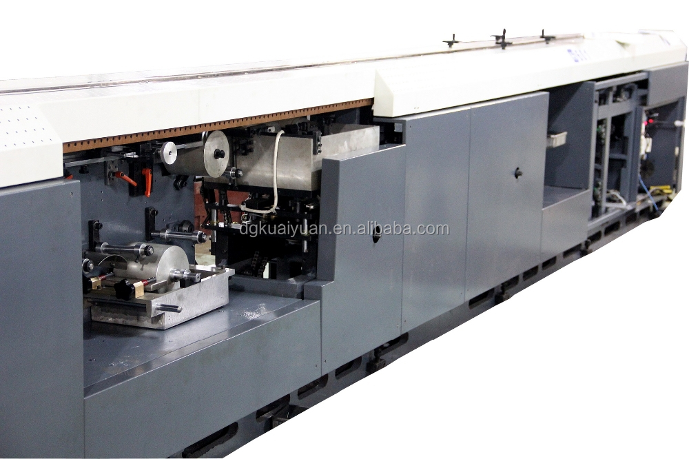 HY601S hardcover book spine gluing machine with gauzing unit hot cold gluing book black machine