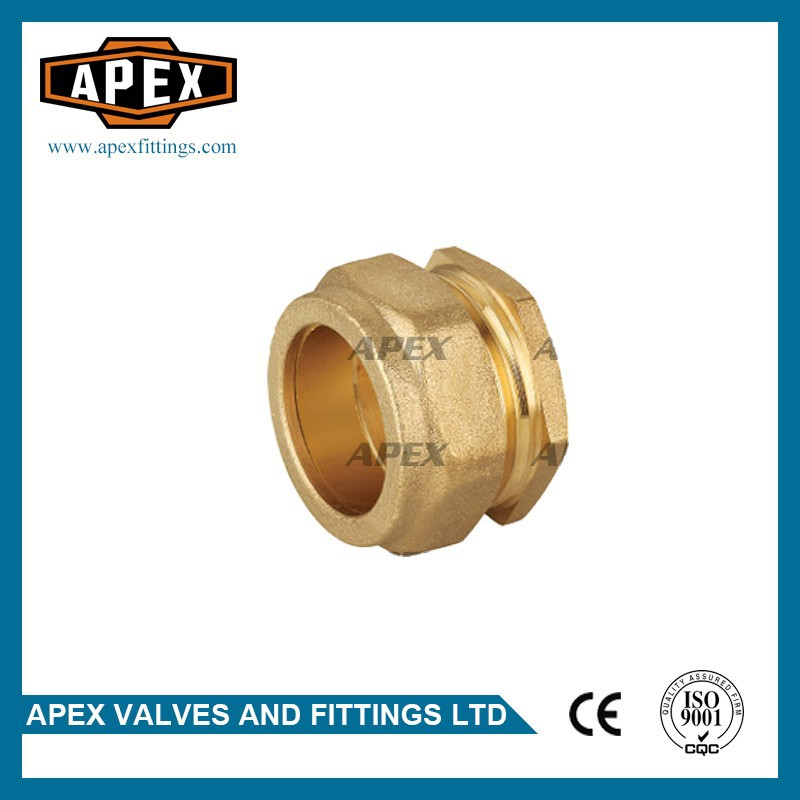 APEX Brass Cap Brass Compression Stop End Pipe Cap Fitting