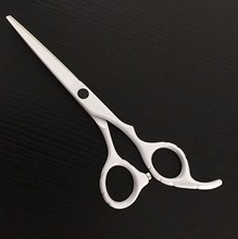 White coating razor sharp blade titanium scissors