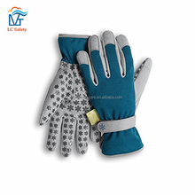Non-Slip Silicone Dots Utility Garden Gloves with Nail Protection