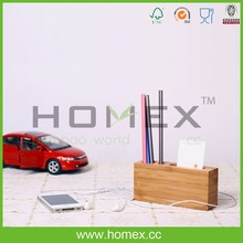 Bamboo Office Organizer/Pensil Holder/Totally Bamboo/Homex_FSC/BSCI