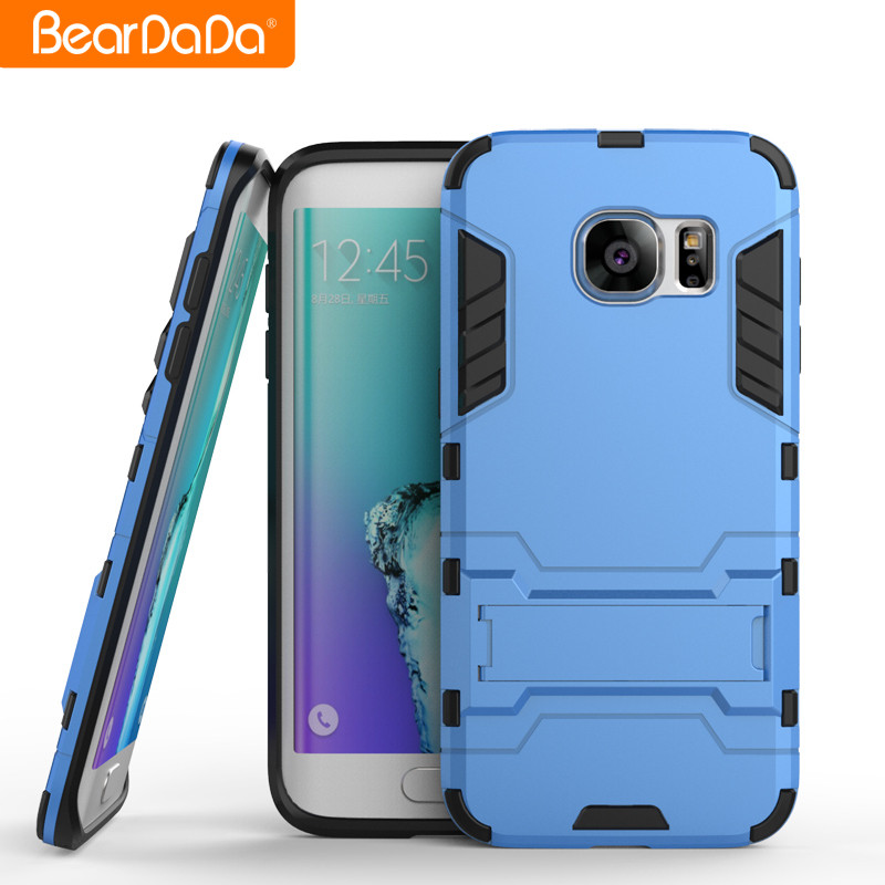 Best Selling Anti shock kickstand TPU PC for samsung galaxy s7 edge blue back cover