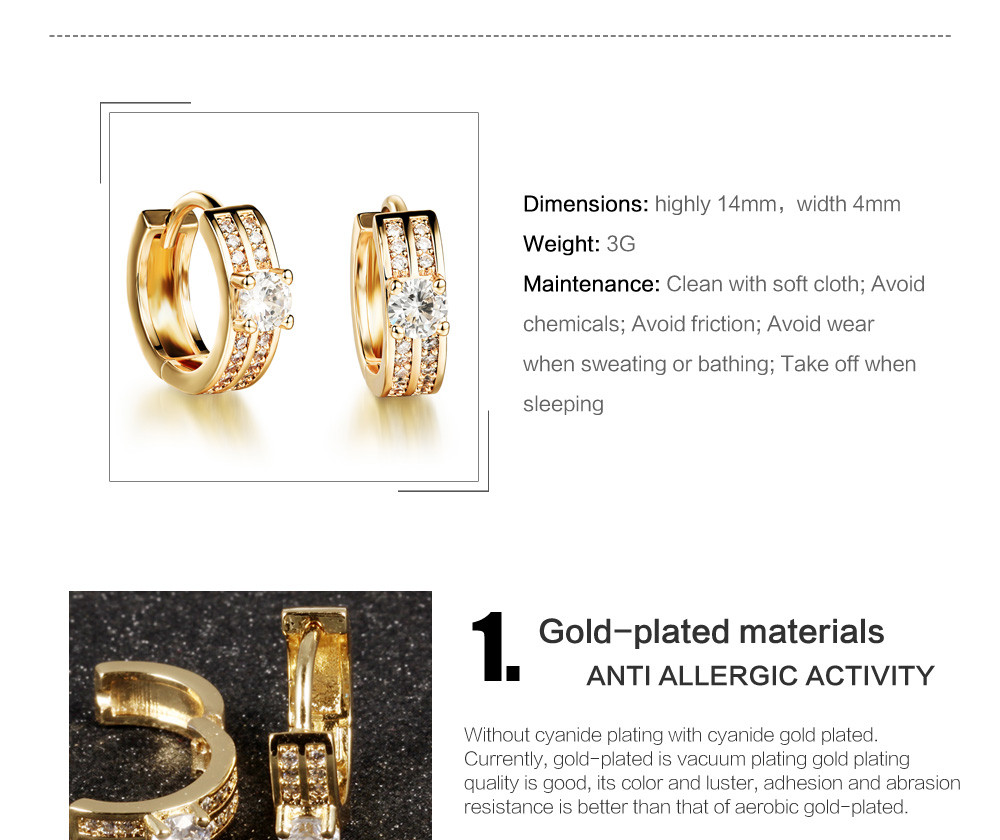 Best Selling Products Dubai Gold Earrings Tops Design