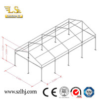 Water-Proof and Sun-Proof Steel Structure event tent