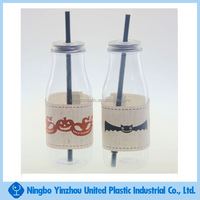 food grade plastic milk bottle with coat and metal lid personalized