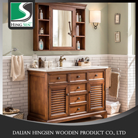 High quality China Modern design customized solid wood bathroom cabinet
