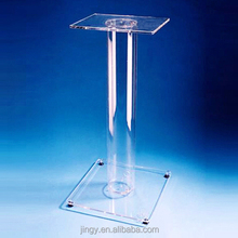 clear acrylic diy free standing laptop stand for conference room
