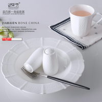 White porcelain dinnerset ceramic dinnerware