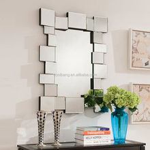 Made in china design decorative wall mounted dressing mirror with mirror frame