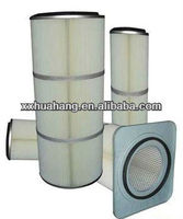 Cylindrical Square head gas turbine filter cartridge,air filtering