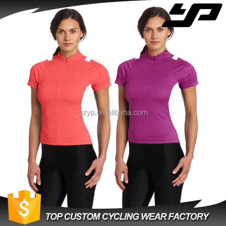 custom sublimation blank short sleeve canada cycling jerseys for women