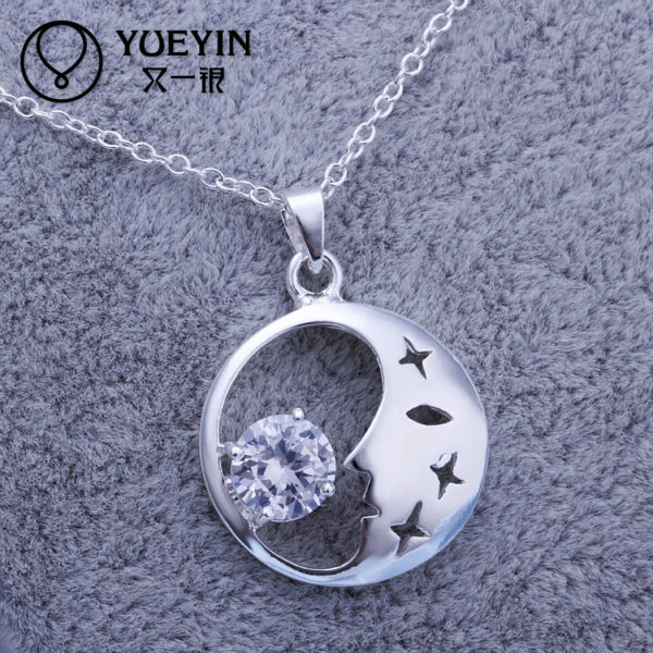 Wedding decoration 925 sterling silver sun pendant jewelry