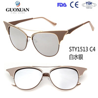 YWGX Over 4 Years Experience Female Shades Oversized white Cat eye sunglasses women cost