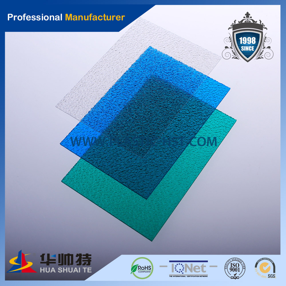 PC Embossed plastic wall partition