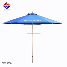teak wood parasol with custom logo for outdoor bistro furniture shade shelter