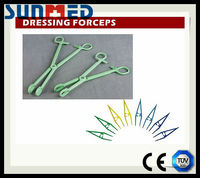 Plastic dressing forceps