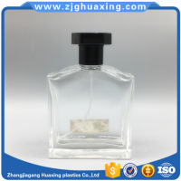 Old design 100ml glass perfume bottle in dubai with black plastic cap and Seal Type spray