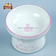 Modern design wholesale ceramic cat dog pet bowls with high quality