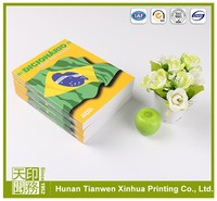 New design thick softcover perfect bound book printing