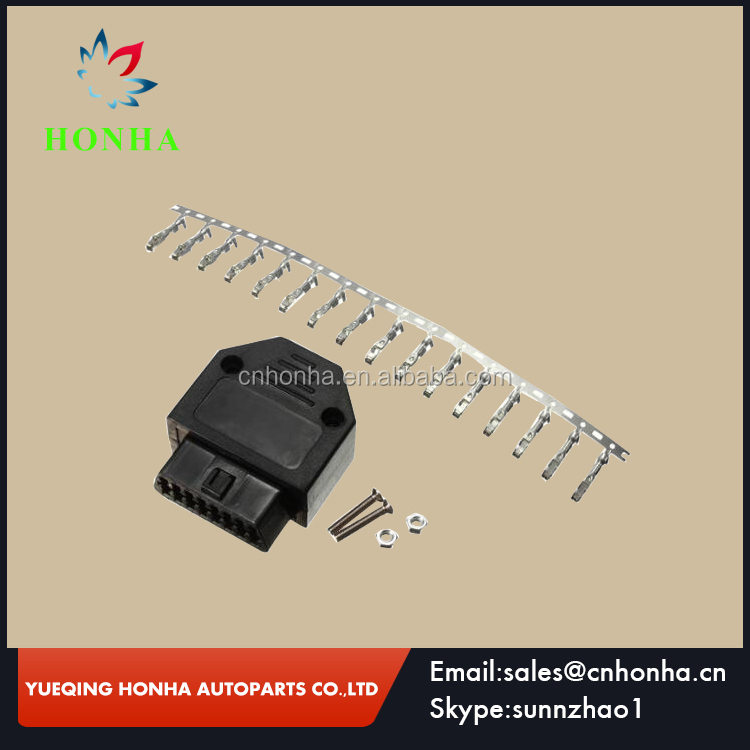 GM OBD2 16 Pin Female Connector Diagnostic OBD II Plug Adapter Connector With Full Pins Terminal