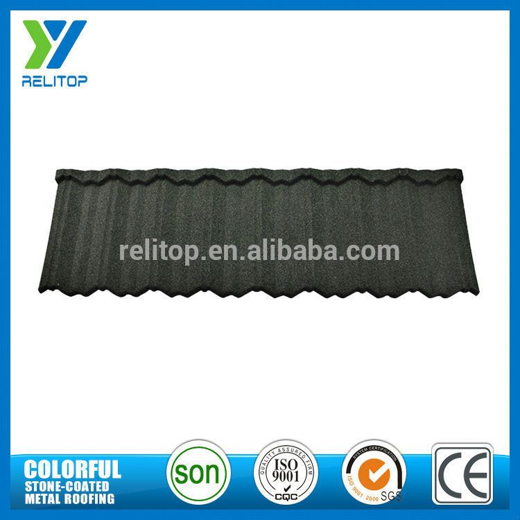Aluminium Zinc Stone Chip Coated Lightweight Roofing Materials For Tourist Destination Building